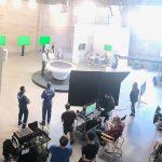 Bird's Eye View of Lit Studio