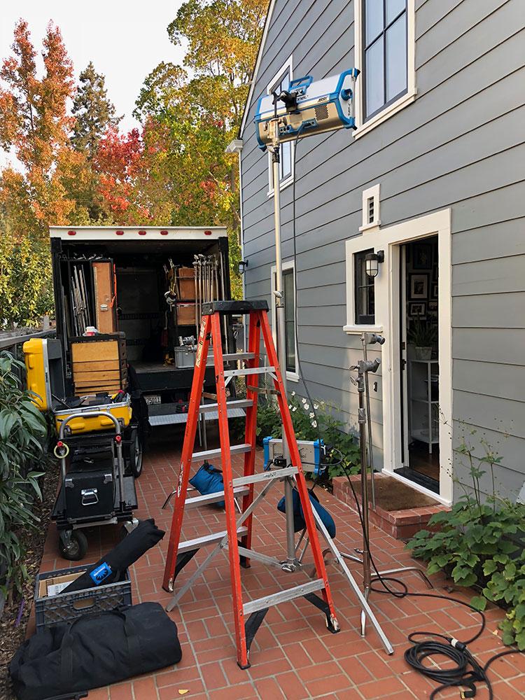 Lighting Equipment Outside Residency