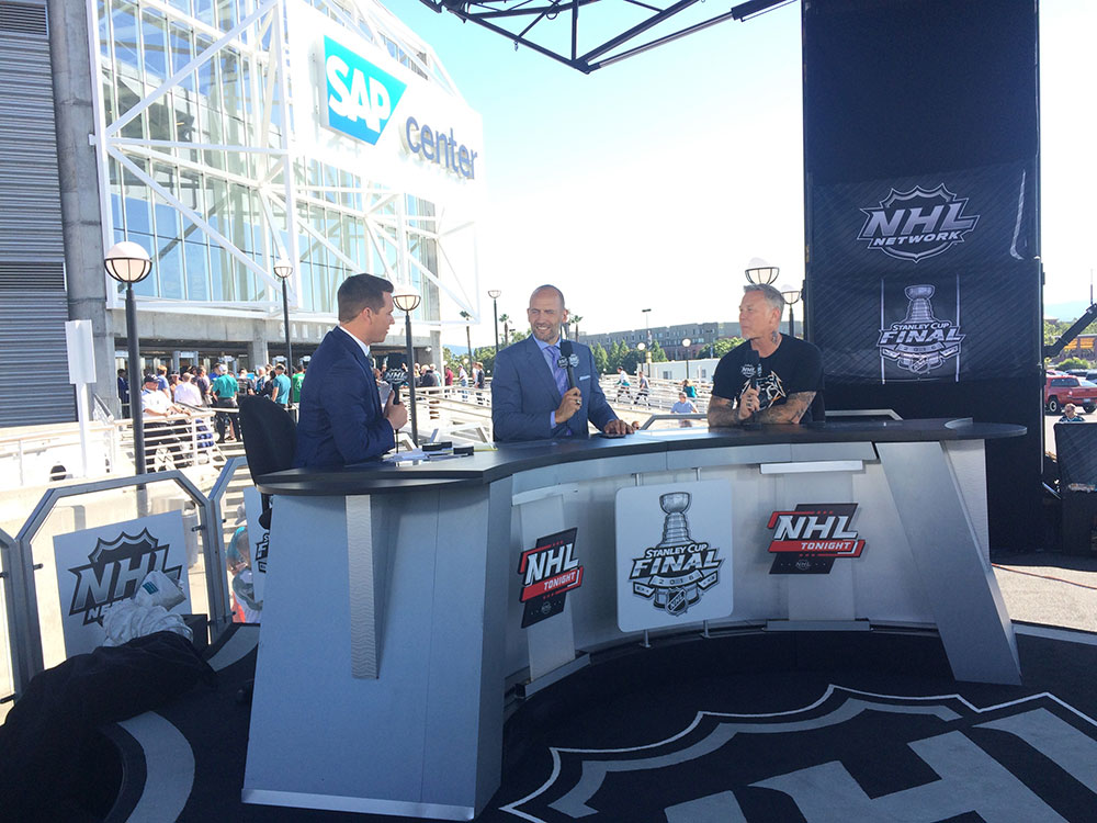 Sports Interview Outside SAP Center