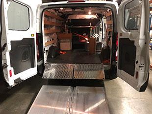 Back of 1-Ton Van